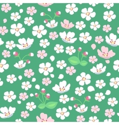 Apple Tree Flowers Seamless Pattern vector image