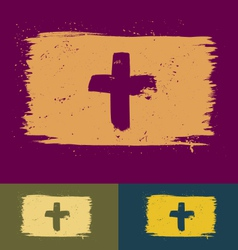 Brushed cross banners vector image