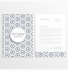 business letterhead design with pattern background vector image vector image