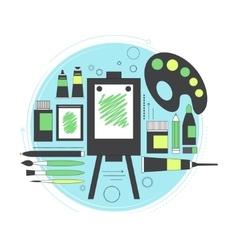 Creative set for artist Ideas creativity design vector image