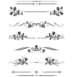 Dividers and borders vector image