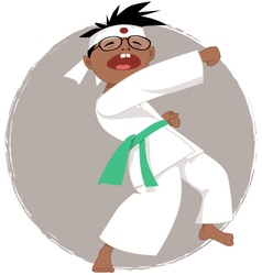 Karate kid vector image vector image