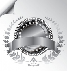 laurel wreath medallion vector image vector image