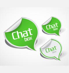 paper bubble label icon vector image