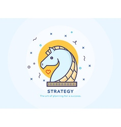 Strategy Icon with a Unicorn vector image