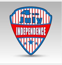 fourth july shield emblem vector image vector image