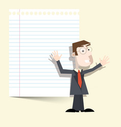 Man with Notebook Paper vector image vector image