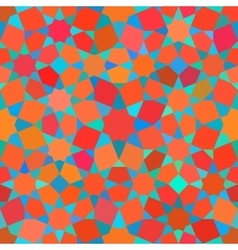 Seamless Tessellation Star Mosaic Red Blue vector image