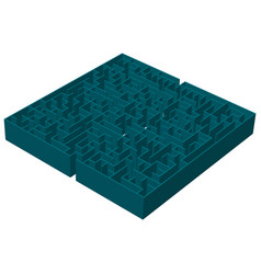 a three-dimensional image of a square blue vector image