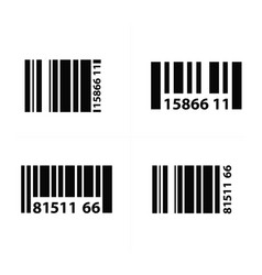barcode design vector image vector image