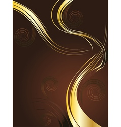 Brown and Gold Background vector image vector image