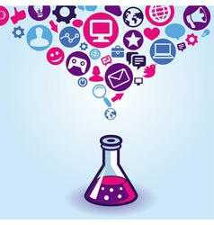 internet marketing concept vector image vector image