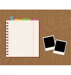 notebook desktop vector image vector image