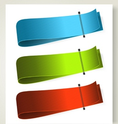 set of colorful textile labels vector image vector image