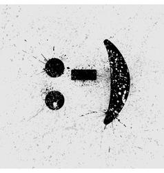 Smile background grunge vector image