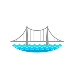 Bridge over the river logo vector image vector image
