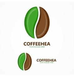 coffee beans logo vector image vector image