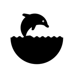 cute dolphin isolated icon vector image
