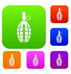 Grenade set collection vector