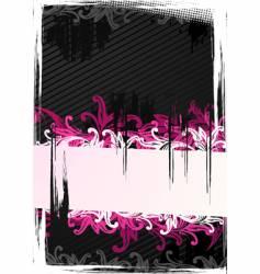 illustration of pink wallpaper vector image vector image