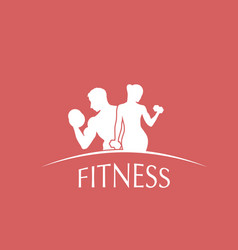 logotype fitness club vector image vector image