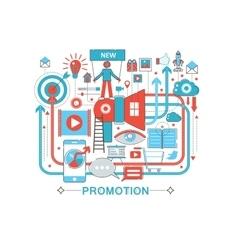 Modern Flat thin Line design Promotion promo vector image vector image