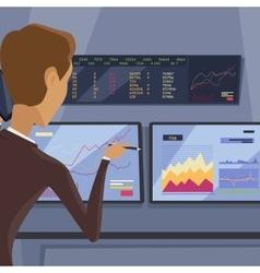 Modern Online Trading Technology vector image
