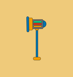 Movie stage light in flat vector