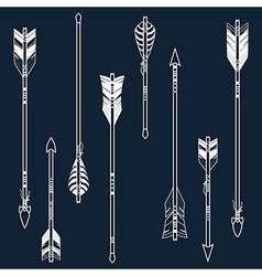 set of ethnic arrows vector image vector image