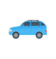 suv car isolated icon vector image vector image