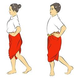 Thai Dance vector image vector image