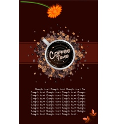 A Coffee Menu Template on Brown Background vector