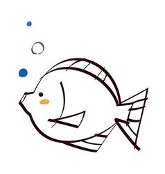 A tropical fish vector