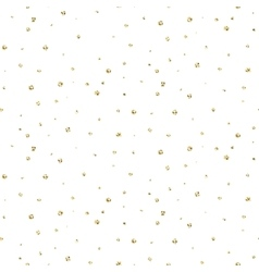 Abstract dotted glitter gold snow seamless pattern vector