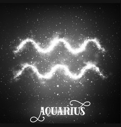 abstract zodiac sign aquarius on a vector image