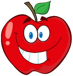 Apple Cartoon Mascot Character vector image