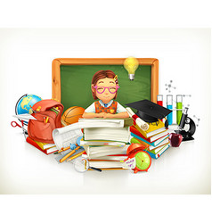 Back to school Education 3d vector image