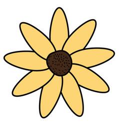 beautiful flower decorative icon vector image