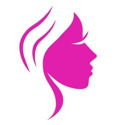beauty woman face vector image