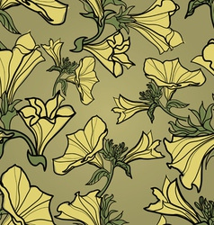 Bell flowers pattern vector