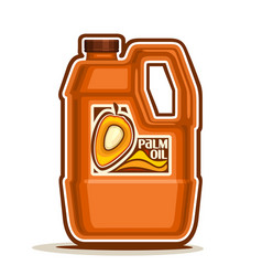 Big orange plastic bottle with palm oil vector