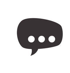 Black chat bubbles to message icon vector