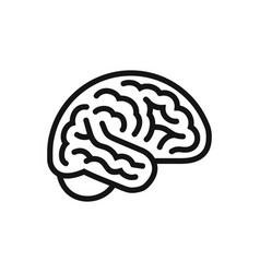 brain side view icon intellect symbol simple vector image