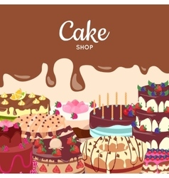 Cake Shop Flat Design Concept vector