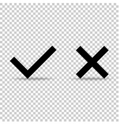 check mark icon on isolated background icon black vector image