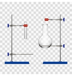 Chemistry Lab Flask And Tubes Grip Stand Holder vector