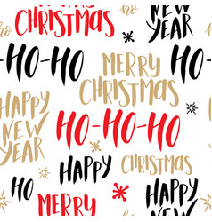 Christmas seamless pattern background with hand vector