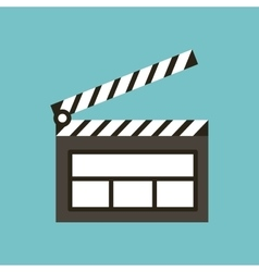 Clapper board flat line icon vector
