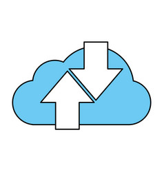 cloud data vector image vector image