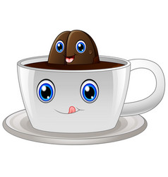coffee cup cartoon character vector image